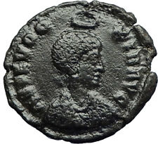 EUDOXIA Arcadius Wife 401AD Authentic Ancient Roman Coin VICTORY CHI-RHO i70717