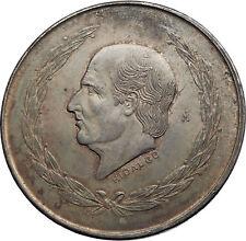 1952 MEXICO Mexican Independence War Hero HIDALGO on Big 4cm Silver Coin i72011