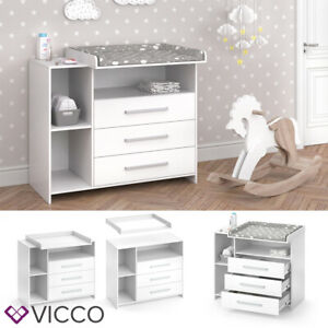 meubles a langer blanche en bois pour