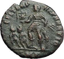 CONSTANTIUS II w Chi-Rho Labarum 348AD Authentic Ancient Roman Coin  i71258