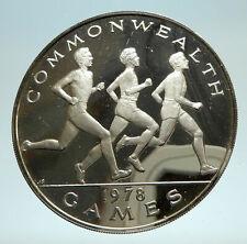 1978 SAMOA UK British Commonwealth Games Boxers Boxing Silver Coin i76818