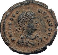THEODOSIUS I the GREAT 379AD Authentic Ancient Original Roman Coin VOT i67231