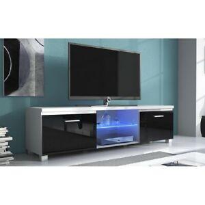 meuble tv blanc laque ebay