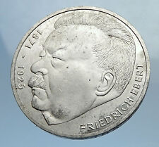 1975 GERMANY Politician Friedrich Ebert Antique Silver 5 Mark GERMAN Coin i71975