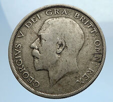 1920 Great Britain United Kingdom UK King GEORGE V Silver Half Crown Coin i69745