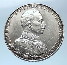 1913 PRUSSIA KINGDOM Germany WILHELM II Silver 2 Mark German Coin i73946