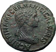 AGRIPPINA SENIOR 42AD Rome Sestertius Ancient Roman Coin of CLAUDIUS i77383
