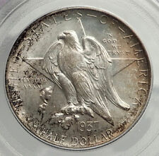 1937 D TEXAS Independence Commemorative Silver Half Dollar Coin PCGS MS i76466