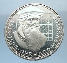 1969F GERMANY Proof Silver 5 Mark German Coin Commem of GERARDUS MERCATOR i71837
