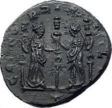 AURELIAN  270AD  Ancient Roman Coin TWO CONCORDIAS Standards HARMONY   i73656