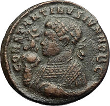 CONSTANTINE II Jr 321AD Trier Authentic Ancient Genuine Roman Coin ALTAR i70716