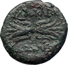 Syracuse Sicily AGATHOCLES Tyrant  Ancient Greek Coin Winged thunderbolt i73410