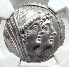 CLEOPATRA THEA & ANTIOCHOS VIII 122BC Seleukid Tetradrachm Greek Coin NGC i72393