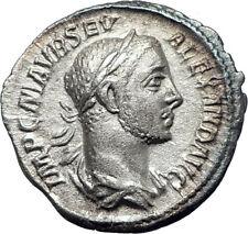 SEVERUS ALEXANDER 226AD Rome Authentic Ancient Silver Roman Coin ANNONA  i73566