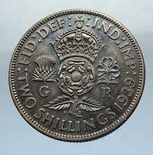 1939 United Kingdom Great Britain GEORGE VI Silver Florin 2Shillings Coin i66843