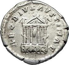 Diva FAUSTINA I Sr. Rome Temple 138AD Silver Roman Coin Antoninus Pius i66951
