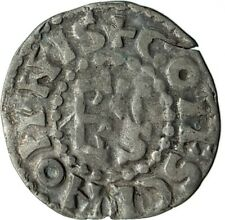 1017AD FRANCE Medieval MAINE Duke HERBERT I Antique Silver Coin CROSS i74595