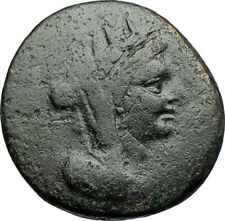 SARDES in LYDIA 133BC Authentic Ancient Greek Coin TYCHE & ZEUS w EAGLE i71216