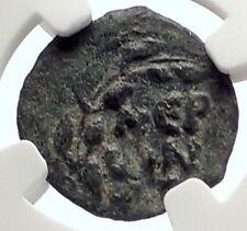 Biblical Jerusalem Saint Paul NERO PORCIUS FESTUS Ancient Roman Coin NGC i70643