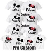 Familie Mickey Und Minnie Maus Shirts Geburtstag Madchen Daddy Mommy Me Familie Tees Ebay
