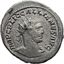 GALLIENUS & VALERIAN I 255AD Samosata Original Ancient Silver Roman Coin i64673