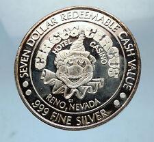 LAS VEGAS Casino Hotel CIRCUS CIRCUS Collectible Silver Medal LION CLOWN i68514