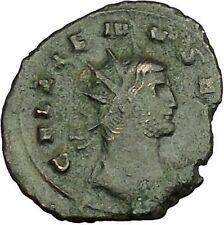 GALLIENUS son of Valerian I Ancient Roman Coin Fortuna Luck Cult  i40016