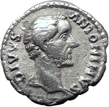 ANTONINUS PIUS Father of Marcus Aurelius Ancient Silver Roman Coin  EAGLE i65086