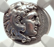 ALEXANDER III the Great Authentic Ancient 323BC Silver Greek Coin NGC i71705