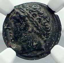 NEAPOLIS in CAMPANIA Rare Authentic Ancient 300BC Greek Coin w TRIPOD NGC i77285