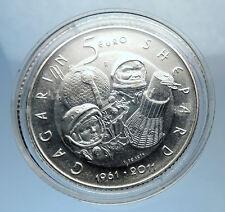2011 SAN MARINO Italy Silver 5 Euro SPACE SHEPARD GAGARIN FREEDOM 7 Coin i71901