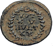 CONSTANS Authentic Ancient Original 347AD Roman Coin of ANTIOCH w VOT XV i67323