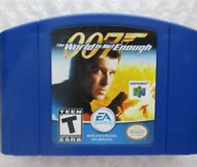007 The World Is Not Enough Nintendo 64 N64 Authentic Blue Video Game Cart Rare