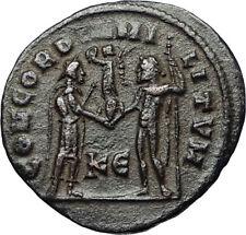 MAXIMIAN w Jupiter Victory Authentic Ancient Original 295AD Roman Coin i67479
