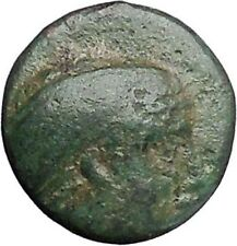 MYTILENE Lesbos Island  400BC Sappho Lyre Authentic Ancient Greek Coin  i47464