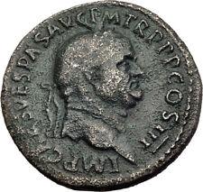 VESPASIAN Genuine 71AD Rome Sestertius Authentic Ancient Roman Coin SALUS i64507