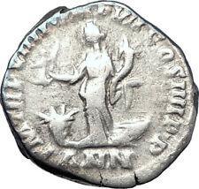 COMMODUS Marcus Aurelius son 177AD Rome Ancient Silver Roman Coin ANNONA i73598