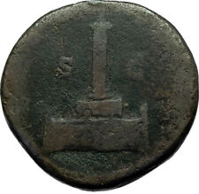 Divus ANTONINUS PIUS Column 161AD Rome Sestertius Rare Ancient Roman Coin i66499