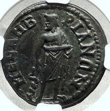 PHILIP I the Arab & OTACILIA SEVERA Mesembria Roman Coin Asclepius NGC i68407