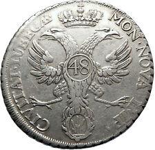 GERMANY German States Lübeck BIG Silver 48 Schilling Courantthaler Coin i70679