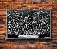 a rock n roll theatre poster can