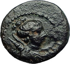 KYME in AEOLIS Genuine 100BC Authentic Ancient Greek Coin ARTEMIS & VASE i71262