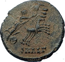 CONSTANTINE I the Great CHARIOT to GOD HAND in HEAVEN Ancient Roman Coin i68178