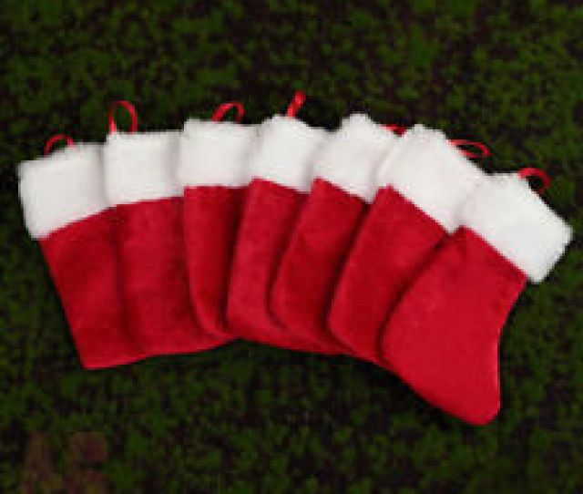 Pc Mini Small Velvety Christmas Stocking With Furry Tim Cm X  Cm