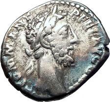 COMMODUS Marcus Aurelius son 185AD Ancient Silver Roman Coin Aequitas i73600