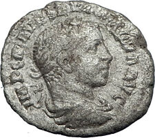 SEVERUS ALEXANDER 222AD Silver Authentic Ancient  Roman Coin Victory i69954