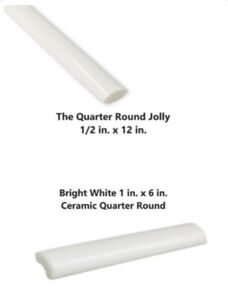 quarter round tile in floor wall
