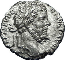 SEPTIMIUS SEVERUS 196AD Silver Authentic Ancient Roman Coin Providentia i70085