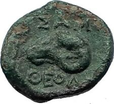 SAMOTHRACE in THRACE Authentic Ancient 3-2ndCenBC Greek Coin ATHENA RAM i69296