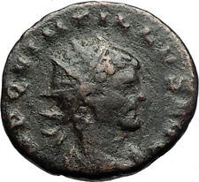 QUINTILLUS Authentic Ancient 270AD Genuine Original Roman Coin FORTUNA i71182